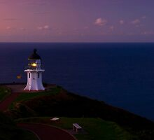 Cape Reinga lighthouse at dusk by Paul Mercer