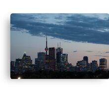 Slow Dusk - Toronto's Glowing Skyline Canvas Print