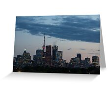 Slow Dusk - Toronto's Glowing Skyline Greeting Card