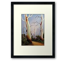 Ghostgums Framed Print