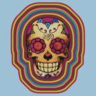 Technicolour Skull by TeeArt