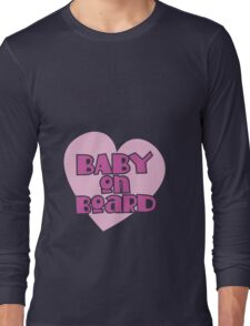 BABY on BOARD with a cute love heart Long Sleeve T-Shirt