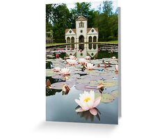Bodnant Gardens, Lily Lake Greeting Card