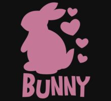 Cute pink BUNNY! rabbit  Kids Tee