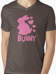 Cute pink BUNNY! rabbit  Mens V-Neck T-Shirt