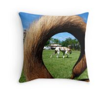 intent aligned with timing Throw Pillow