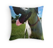 Luca the Fawnequin Great Dane Throw Pillow