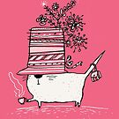 Cup of Tea Cat by Carla Martell