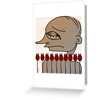 Blue eyes, red tulips Greeting Card