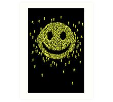 Happy Crowd Art Print