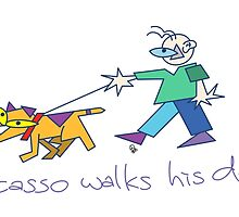 Picasso Walks His Dog by Spudrocket