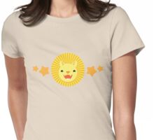 Cute lion with orange stars Womens Fitted T-Shirt