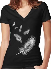 Flying High Women's Fitted V-Neck T-Shirt