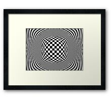Optical Illusion Checkers  Framed Print