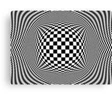 Optical Illusion Checkers  Canvas Print