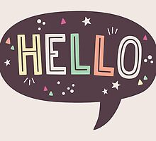 Hello Speech Bubble Typography by Claire Stamper