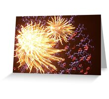 exploding colours Greeting Card