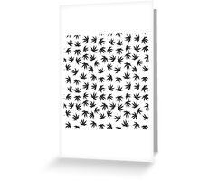 Marijuana pattern Greeting Card