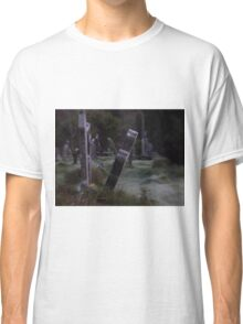 Tilted Gravestone Classic T-Shirt