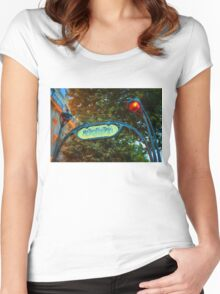 Impressions of Paris - Metropolitain Women's Fitted Scoop T-Shirt