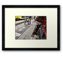 train station Framed Print