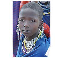The Maasai Mona Lisa, Tanzania, Africa Poster