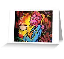 Monkey Bizness Greeting Card