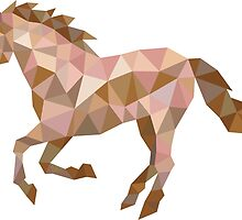 Running Horse Lowpoly by tsign703