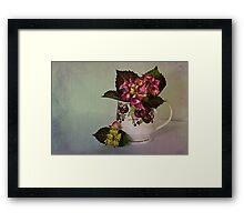 Flower arrangement Framed Print