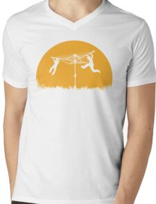 Merry Go Sunset Mens V-Neck T-Shirt