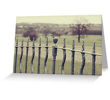 rusty old railings Greeting Card