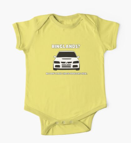 'Ringlands? We Dont Have Those Problems Here' Mitsubishi Evo Gag Design Sticker / Tee One Piece - Short Sleeve