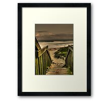 Old Bar beach walkway Framed Print