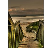 Old Bar beach walkway Photographic Print