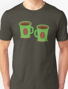 Two green mugs cups with coffee beans Unisex T-Shirt
