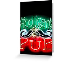 Hooligans Pub Greeting Card