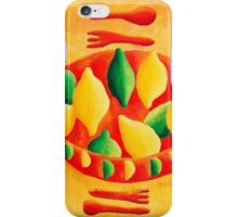Lemons and Limes (Yellow) iPhone Case/Skin