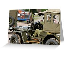Jeeps at World War 2 re-enactment Greeting Card