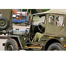 Jeeps at World War 2 re-enactment Photographic Print