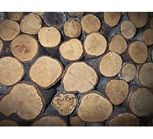 wall of wood Photographic Print
