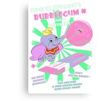 Pink Elephants Bubblegum Canvas Print