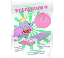 Pink Elephants Bubblegum Poster