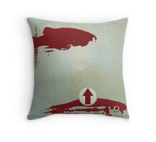 poissons / presque rouges Throw Pillow