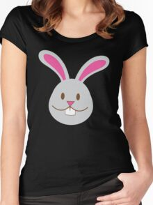 Easter bunny super cute Chibi Women's Fitted Scoop T-Shirt
