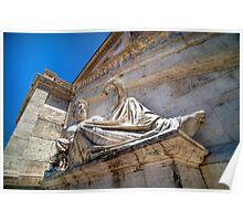 Campidoglio Statue, Rome, Italy Poster