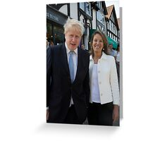 Boris Johnson visits the Maypole project Greeting Card