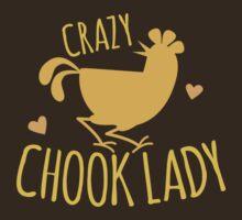 CRAZY CHOOK LADY with orange hen  by jazzydevil