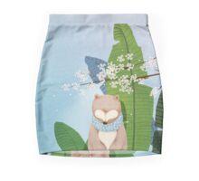 White Socks Series: Bear Under Sakura Blossom Mini Skirt