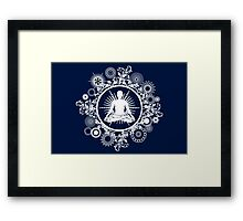Inner Being - white silhouette Framed Print