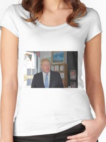 Boris Johnson visits the Maypole project Women's Fitted Scoop T-Shirt